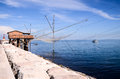 Traditional fishing house europen near venice in italy Stock Image