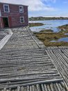 Fishing stage and flakes on Fogo Island Royalty Free Stock Photo