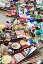 Traditional floating market, Thailand. Royalty Free Stock Image