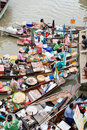 Traditional floating market, Thailand. Royalty Free Stock Images