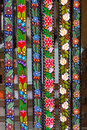 Traditional floral belts traditionally hand embroidered from maramures romania Royalty Free Stock Image