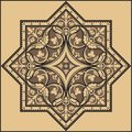 Traditional floral ornament pattern indian Royalty Free Stock Image