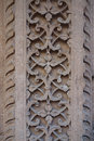 Traditional flower criss cross stone carving this is a beautiful example of temple in india this is an ornate design of flowers in Royalty Free Stock Photos