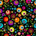 Traditional folk floral pattern  illustration Royalty Free Stock Photo