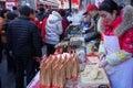 Traditional food at temple fairs tianjin china Royalty Free Stock Photos