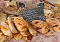 Traditional French bread at Provence market Royalty Free Stock Photography