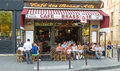 The traditional French  cafe des Beaux arts, Paris, France. Royalty Free Stock Photo