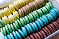 Traditional french desert macaroons Royalty Free Stock Photography