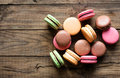 Traditional french desert macaroons Royalty Free Stock Image