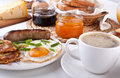 Traditional full breakfast meal Royalty Free Stock Photos