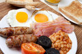 Traditional full english breakfast Stock Images