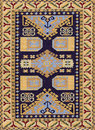 Traditional Geometric Ethnic Orient Antique Carpet Textile Royalty Free Stock Photo