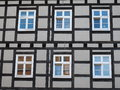Traditional german house half timbered in germany Royalty Free Stock Photography