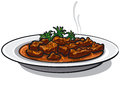 Traditional goulash dish