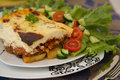 Traditional Greek dish - moussaka Royalty Free Stock Photo