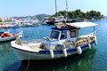 Traditional Greek fishing boat Royalty Free Stock Image