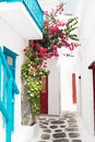 Traditional greek house on mykonos island greece Royalty Free Stock Images