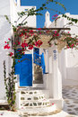 Traditional greek house on sifnos island door greece Stock Photography