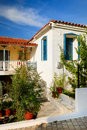 Traditional greek houses Royalty Free Stock Photography