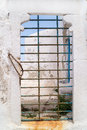 Traditional greek old door on mykonos island greece Royalty Free Stock Image