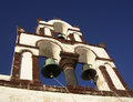 Traditional greek orthodox bell tower in oia santorini Royalty Free Stock Photography