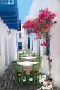 Traditional greek tavern on sifnos island greece Royalty Free Stock Photo