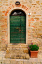 Traditional Green Door Royalty Free Stock Photography