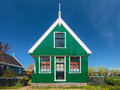 Traditional green Dutch historic house Stock Images