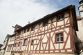 Traditional half timber house in  rothenburg. Royalty Free Stock Photo