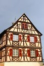 Traditional half timbered house in colmar france alsace region of Stock Photos