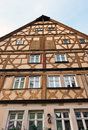 Traditional half timbered house in rothenburg ob der tauber the famous medieval town of bavaria germany Stock Photos