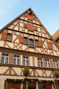 Traditional half timbered house in rothenburg ob der tauber the famous medieval town of bavaria germany Royalty Free Stock Photography