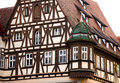 Traditional half timbered house in rothenburg ob der tauber the famous medieval town of bavaria germany Royalty Free Stock Photos