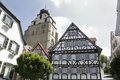 Traditional half-timbered houses Royalty Free Stock Photo