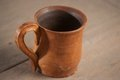 Traditional handcrafted mug perfect for tea coffee or beer Stock Photo