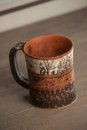 Traditional handcrafted mug perfect for tea coffee or beer Stock Photography