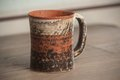 Traditional handcrafted mug perfect for tea coffee or beer Stock Photos