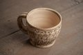 Traditional handcrafted mug perfect for tea coffee or beer Stock Images