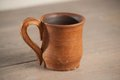 Traditional handcrafted mug perfect for tea coffee or beer Royalty Free Stock Photography