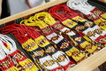 Traditional handicrafts beaded necklaces sarawak native Royalty Free Stock Photography