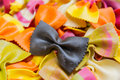 Traditional handmade italian farfalle pastas Royalty Free Stock Photo