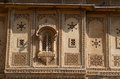Traditional hindu architecture of old haveli in Jaisalmer, India Stock Photography