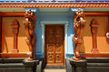Traditional Hindu temple, gates to the temple Stock Images
