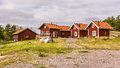 Traditional holiday homes in Sweden Europe Royalty Free Stock Photo