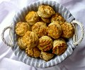 Traditional homemade hungarian greaves scones