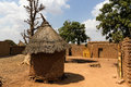 Traditional homes burkina faso in south east Stock Image