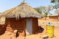 Traditional homes burkina faso in south east Royalty Free Stock Images