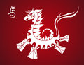Traditional horse symbol chinese new year of the asian zodiac illustration eps vector file organized in layers for easy editing Stock Photography