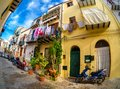 Traditional house architecture in Cefalu, Italy