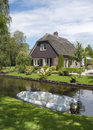 Traditional house in Giethoorn, Netherlands Stock Photography